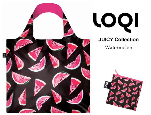 170403エコバッグ LOQIローキー ブランド 折り畳み スイカ柄 JUICY Collection Watermelon